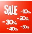 Sale percents paper set vector image