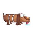 funny cute cartoon dog characters vector image