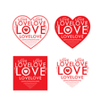 Love Red Text Heart vector image