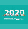 2020 new year business people working lifestyle vector image vector image