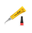 3d realistic metal tube of super glue vector image vector image