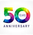 50 anniversary facet color logo