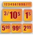 Abstract set of price stickers