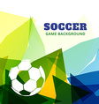abstract soccer game design vector image vector image