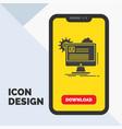 account profile report edit update glyph icon in vector image vector image