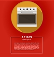ad layout for kitchen appliances White oven vector image