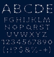 alphabet letters numbers and signs from stars vector image vector image