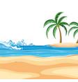 an empty beach scene vector image vector image