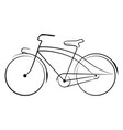 ancient bicycle 0003 vector image vector image