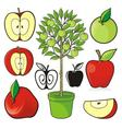 apple icons 02 vector image vector image