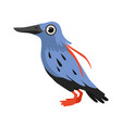 beautiful blue bird isolated vector image vector image