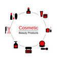 beauty and makeup infographics beauty and makeup vector image vector image