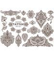 big set of henna floral elements vector image vector image