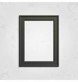 Black modern picture frame vector image vector image