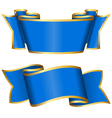 Blue ribbon collection vector image vector image