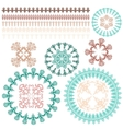 borders brushes decorative frames with ornaments vector image vector image