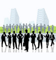 business people outdoors vector image