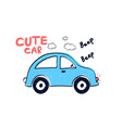 car for t-shirt design vector image vector image