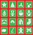 christmass icon set vector image vector image