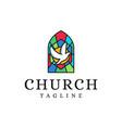 church christian logo icon on white background vector image