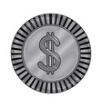 coin dollar currency money cash icon vector image vector image