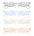 colored ornaments classic floral dividers vector image