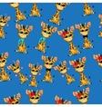 cute giraffe baby vector image