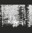 distressed overlay texture of old brickwork vector image vector image