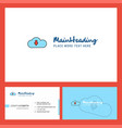 downloading logo design with tagline front and vector image vector image