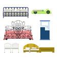 exclusive sleeping furniture design bedroom with vector image vector image