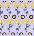 fantasy hand-drawn floral seamless pattern vector image vector image