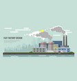 flat style modern design of industrial factory vector image vector image