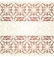 Floral border Abstract flower background vector image vector image