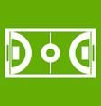 futsal or indoor soccer field icon green vector image vector image