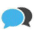 halftone dot forum chat icon vector image