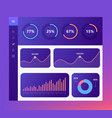 infographic dashboard template with flat design vector image vector image