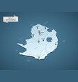 isometric 3d south africa map concept vector image