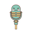 kawaii microphone sound music equipment vector image vector image
