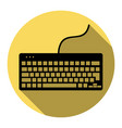 keyboard simple sign flat black icon with vector image