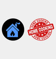 kitchen building icon and scratched home vector image vector image