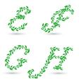 leaf text e h vector image