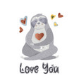 love you card vector image vector image