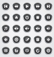 Media button black vector image