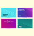 modern covers design ultra line striped vector image vector image