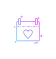 mothers day calender icon design vector image