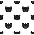 mouse muzzle icon in black style isolated on white vector image vector image