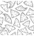 nachos drawing seamless pattern traditional vector image
