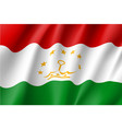 national flag of tajikistan republic vector image