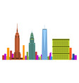 new york cityscape vector image vector image