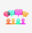 people icons with colorful dialog speech bubbles vector image vector image